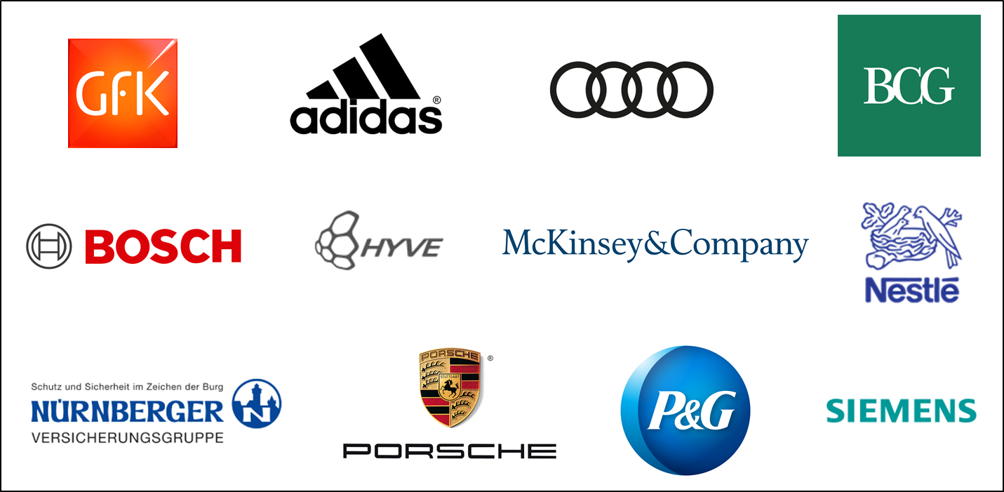 Examples of partners in industry involved in the Master's degree program in Marketing